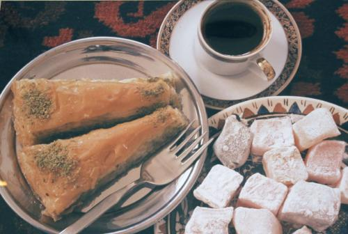 baklava and turkish delight